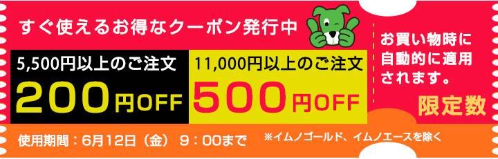 5500円以上で200円OFFクーポン 11000円以上で500OFFクーポン