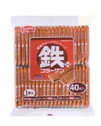 鉄プラスコラーゲンウエハース 40枚入×10個  【ハマダコンフェクト】1