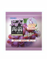 ぷるんと蒟蒻ゼリー 新パウチ グレープ  6個入×12袋 【オリヒロ】1