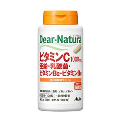ディアナチュラ ビタミンC・亜鉛・乳酸菌・B2・B6 120錠  【アサヒグループ食品】1