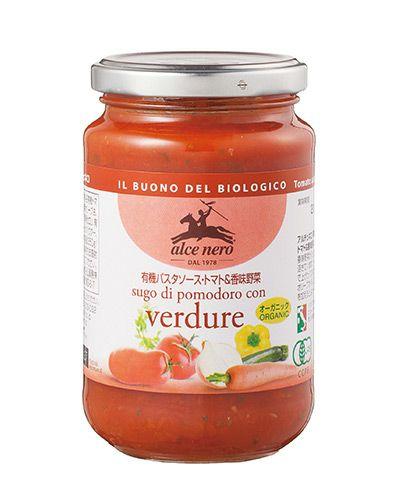 アルチェネロ 有機パスタソース トマト&香味野菜 350g 【日仏貿易】1