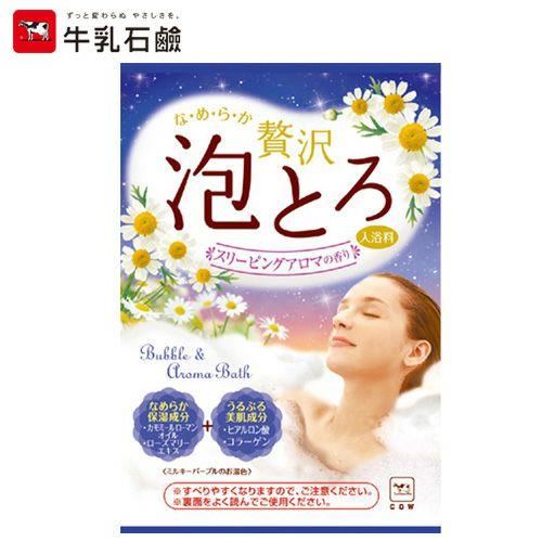 お湯物語 贅沢泡とろ入浴料 スリーピングアロマの香り 30g 【牛乳石鹸共進社】1