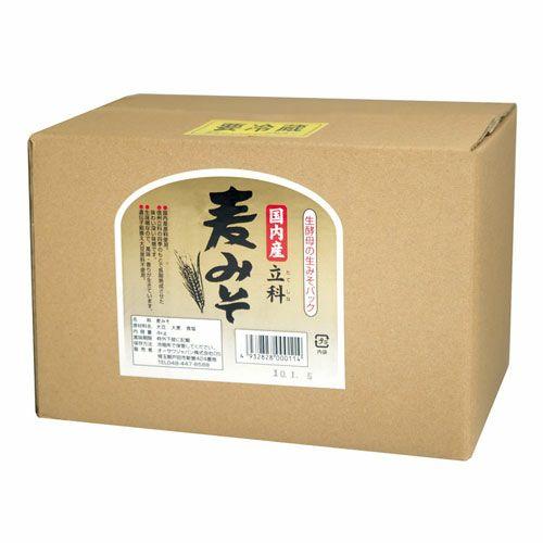 業務用 国内産立科麦みそ 箱入 3.6kg 【オーサワジャパン】1