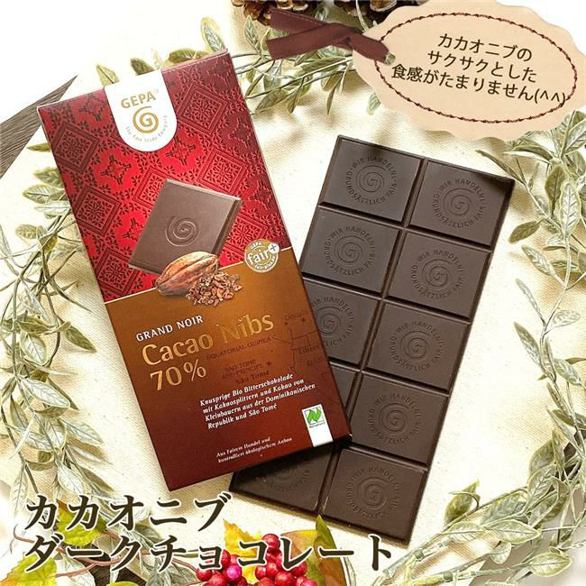 ゲパ GEPA グランノワール ビオ カカオニブダークチョコレート 100g 【おもちゃ箱】1