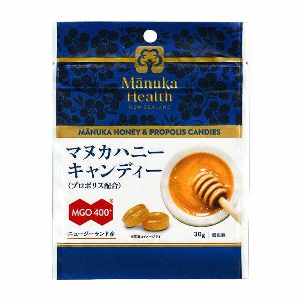 マヌカヘルス マヌカハニーキャンディー プロポリス配合 MGO400+ 30g 【富永貿易】1
