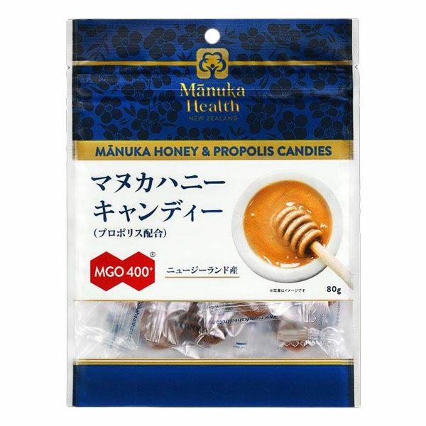 マヌカヘルス マヌカハニーキャンディー プロポリス配合 MGO400+ 80g 【富永貿易】1